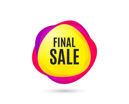 Final Sale. Special offer price sign. Advertising Discounts symbol. Gradient sales tag. Abstract shopping banner. Template for design. Vector Çizim