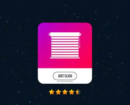 Louvers sign icon. Window blinds or jalousie symbol. Web or internet icon design. Rating stars. Just click button. Vector  イラスト・ベクター素材