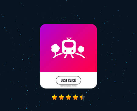 Overground subway sign icon. Metro train symbol. Web or internet icon design. Rating stars. Just click button. Vector Иллюстрация