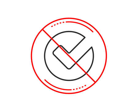 No or stop sign. Check line icon. Approved Tick sign. Confirm, Done or Accept symbol. Caution prohibited ban stop symbol. No  icon design.  Vector Illusztráció
