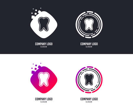 Tooth enamel protection sign icon. Dental toothpaste care symbol. Healthy teeth.  Colorful buttons with icons. Vector