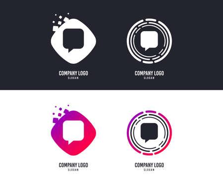 Icône de signe de chat. Symbole de bulle de discours. Bulles de discussion de communication. conception. Boutons colorés avec des icônes. Vecteur