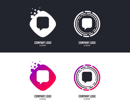 Chat sign icon. Speech bubble symbol. Communication chat bubbles. design. Colorful buttons with icons. Vector
