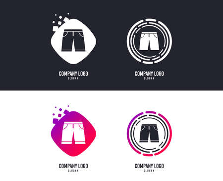 Mens shorts sign icon. Clothing symbol.  Colorful buttons with icons. Vector