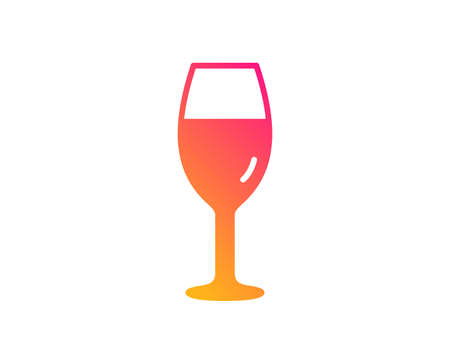 Wine glass icon. Burgundy glass sign. Classic flat style. Gradient wineglass icon. Vector Illustration