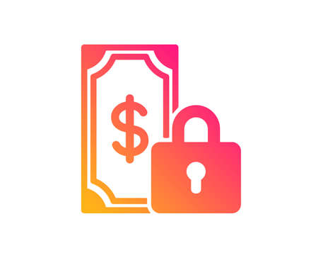 Private payment icon. Dollar sign. Finance symbol. Classic flat style. Gradient private payment icon. Vector 向量圖像