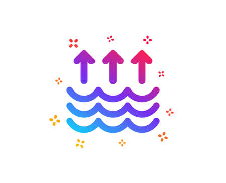 Evaporation icon. Global warming sign. Waves symbol. Dynamic shapes. Gradient design evaporation icon. Classic style. Vector