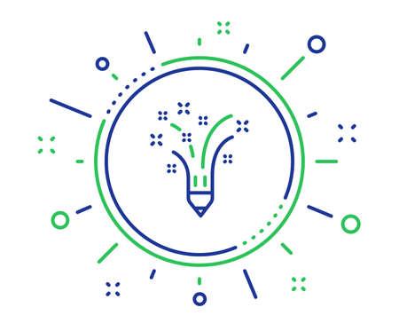 Inspiration line icon. Creativity pencil sign. Graphic art symbol. Quality design elements. Technology inspiration button. Editable stroke. Vector