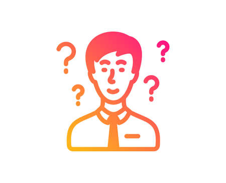 Question mark icon. Support consultant sign. Classic flat style. Gradient support consultant icon. Vector
