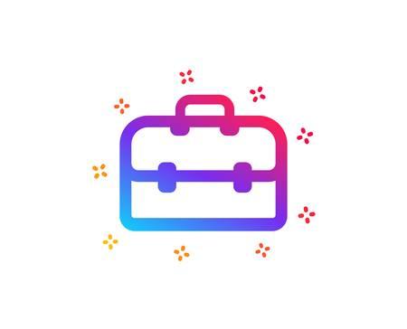 Business case icon. Portfolio symbol. Diplomat sign. Dynamic shapes. Gradient design portfolio icon. Classic style. Vector Ilustração
