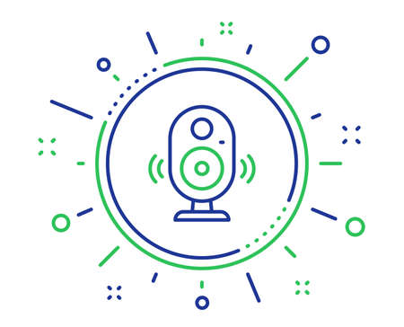 Speaker line icon. Computer component sign. Sound symbol. Quality design elements. Technology speaker button. Editable stroke. Vector 일러스트