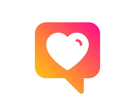 Heart icon. Favorite like sign. Positive feedback symbol. Classic flat style. Gradient heart icon. Vector Ilustração
