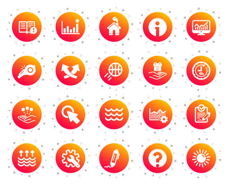 Whistle, Waves and Sun icons. Customisation, Global warming and Question mark signs. Signature Rfp, Information and Efficacy icons. Waves, Consolidation and Operational excellence. Vector Illustration