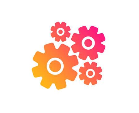 Cogwheel icon. Engineering tool sign. Cog gear symbol. Classic flat style. Gradient cogwheel icon. Vector