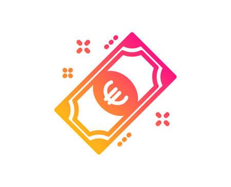 Euro money icon. Payment method sign. Eur symbol. Classic flat style. Gradient euro money icon. Vector Foto de archivo - 124535374