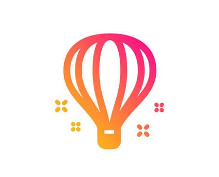 Air balloon icon. Sky trip sign. Flight transportation symbol. Classic flat style. Gradient air balloon icon. Vector