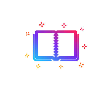 Book icon. Education symbol. Instruction or E-learning sign. Dynamic shapes. Gradient design book icon. Classic style. Vector
