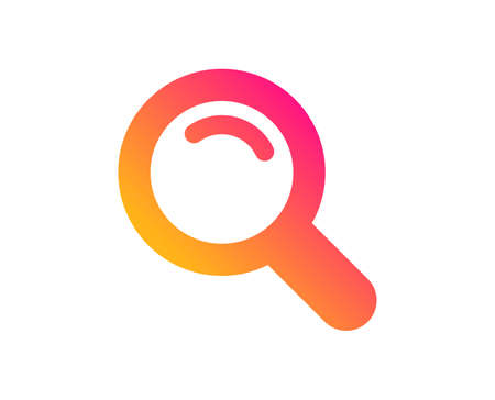 Search icon. Magnifying glass sign. Enlarge tool symbol. Classic flat style. Gradient search icon. Vector