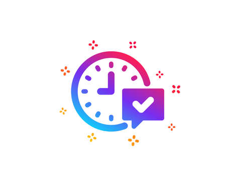 Time icon. Select alarm sign. Dynamic shapes. Gradient design select alarm icon. Classic style. Vector
