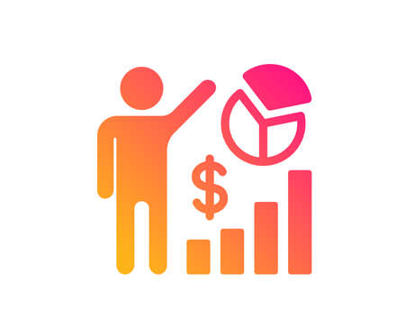 Seo statistics icon. Search engine optimization sign. Analytics chart symbol. Classic flat style. Gradient seo statistics icon. Vector Фото со стока - 124535564