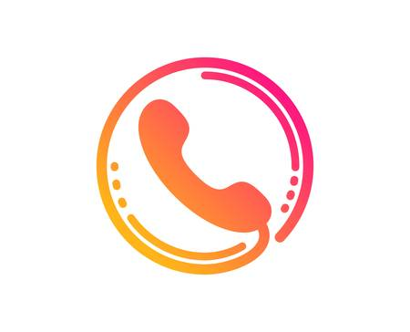 Call center service icon. Phone support sign. Feedback symbol. Classic flat style. Gradient call center icon. Vector