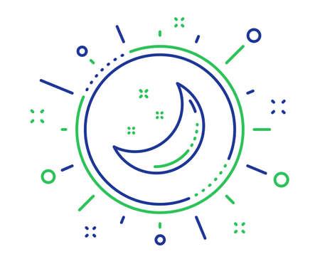 Moon and stars line icon. Night sign. Sleep symbol. Quality design elements. Technology moon stars button. Editable stroke. Vector  イラスト・ベクター素材