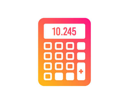 Calculator icon. Accounting sign. Calculate finance symbol. Classic flat style. Gradient calculator icon. Vector
