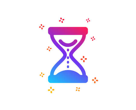 Time hourglass icon. Sand watch sign. Dynamic shapes. Gradient design time hourglass icon. Classic style. Vector