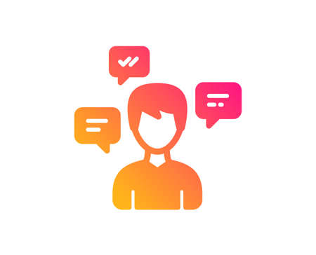 Chat Messages icon. Conversation sign. Communication speech bubbles symbol. Classic flat style. Gradient conversation messages icon. Vector Foto de archivo - 124282834