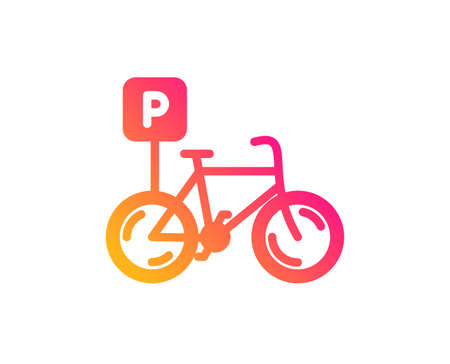 Bicycle parking icon. Bike park sign. Public transport place symbol. Classic flat style. Gradient bicycle parking icon. Vector Banque d'images - 119539154