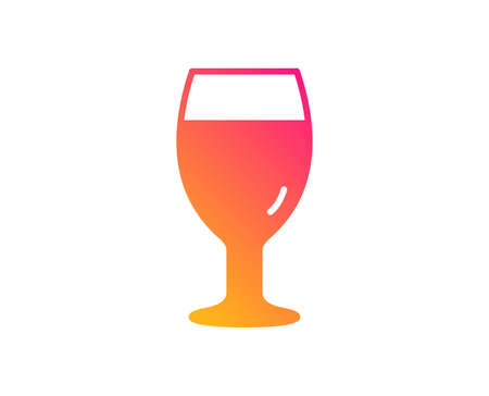 Beer glass icon. Pub Craft beer sign. Brewery beverage symbol. Classic flat style. Gradient beer glass icon. Vector Illustration
