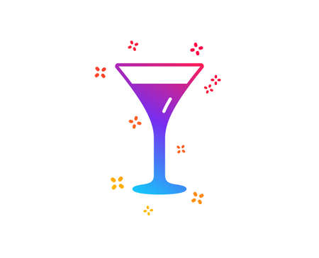 Martini glass icon. Wine glass sign. Dynamic shapes. Gradient design martini glass icon. Classic style. Vector