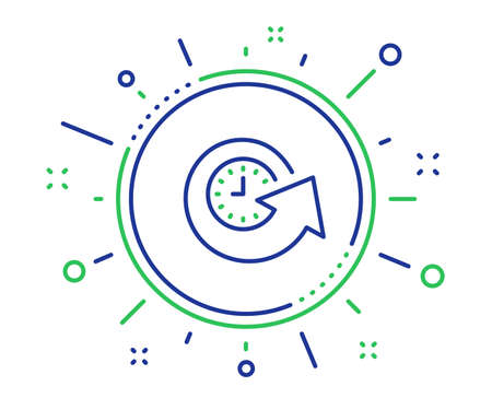 Update time line icon. Refresh watch sign. Quality design elements. Technology update time button. Editable stroke. Vector