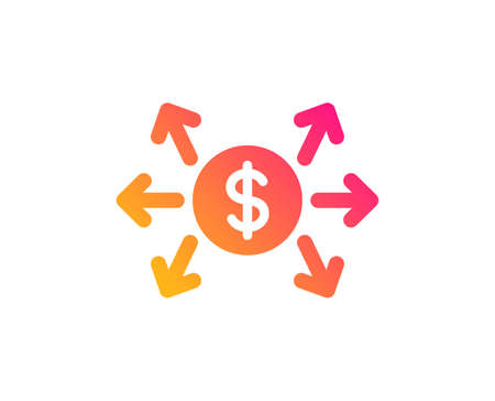 Dollar exchange icon. Payment sign. Finance symbol. Classic flat style. Gradient dollar exchange icon. Vector  イラスト・ベクター素材
