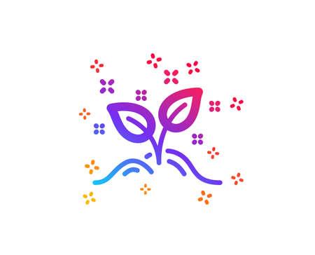 Startup concept icon. Idea leaves sign. Launch project symbol. Dynamic shapes. Gradient design startup concept icon. Classic style. Vector Ilustração