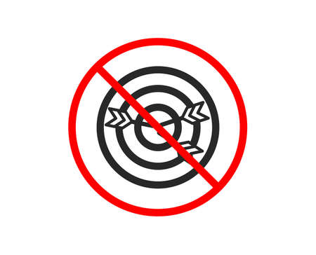 No or Stop. Target icon. Marketing targeting strategy symbol. Aim with arrows sign. Prohibited ban stop symbol. No targeting icon. Vector
