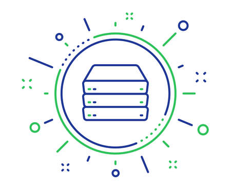 Servers line icon. PC component sign. Big data storage symbol. Quality design elements. Technology servers button. Editable stroke. Vector Illustration