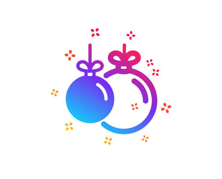 Christmas ball icon. New year tree decoration sign. Dynamic shapes. Gradient design christmas ball icon. Classic style. Vector 일러스트