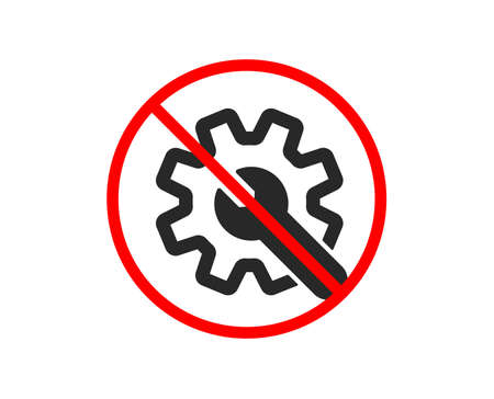 No or Stop. Customisation icon. Settings or editing sign. Repair symbol. Prohibited ban stop symbol. No customisation icon. Vector Stock Vector - 124228967