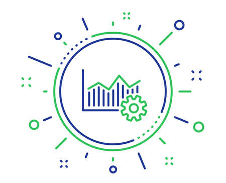 Operational excellence line icon. Cogwheel sign. Quality design elements. Technology operational excellence button. Editable stroke. Vector Illustration