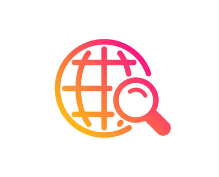 Global Search icon. World or Globe sign. Website search engine symbol. Classic flat style. Gradient internet Search icon. Vector Banque d'images - 119632523