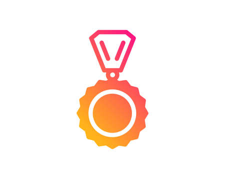 Award Medal icon. Winner achievement symbol. Glory or Honor sign. Classic flat style. Gradient medal icon. Vector