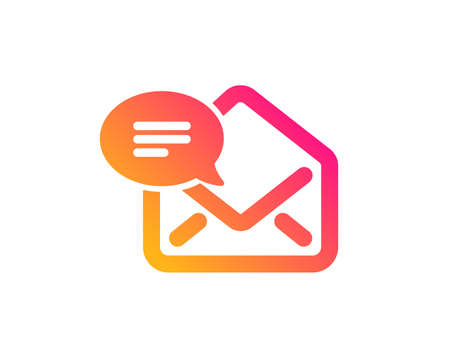 New Mail icon. Message correspondence sign. E-mail symbol. Classic flat style. Gradient new Mail icon. Vector