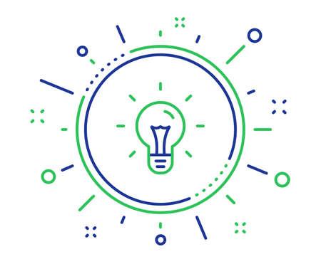 Idea line icon. Light bulb sign. Copywriting symbol. Quality design elements. Technology idea button. Editable stroke. Vector