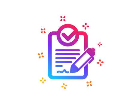 Icône RFP. Demande de signe de proposition. Signaler le symbole du document. Formes dynamiques. Icône rfp de conception de dégradé. Style classique. Vecteur