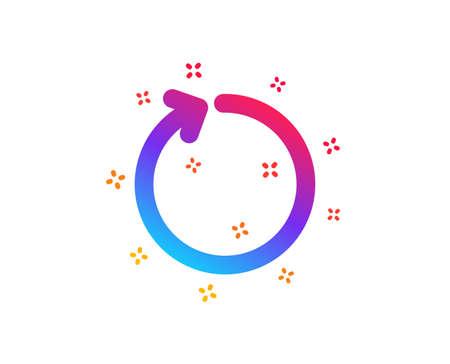 Loop arrow icon. Refresh Arrowhead symbol. Navigation pointer sign. Dynamic shapes. Gradient design loop icon. Classic style. Vector Ilustración de vector