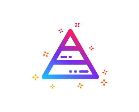 Pyramid chart icon. Analytics graph sign. Market analytics symbol. Dynamic shapes. Gradient design pyramid chart icon. Classic style. Vector