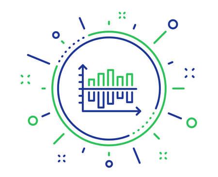 Diagram chart line icon. Column graph sign. Market analytics symbol. Quality design elements. Technology diagram chart button. Editable stroke. Vector