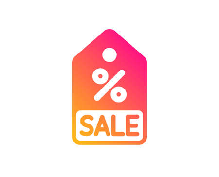 Shopping tag icon. Sale Special offer sign. Discount coupon symbol. Classic flat style. Gradient sale coupon icon. Vector