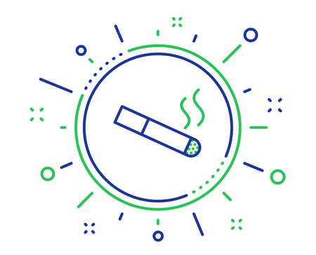 Smoking area line icon. Cigarette sign. Smokers zone symbol. Quality design elements. Technology smoking button. Editable stroke. Vector Banque d'images - 124229328